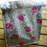 Oilcloth Lunch Bag - Flowe..